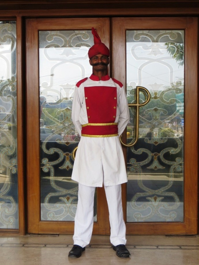 The Raj's dapper doorman