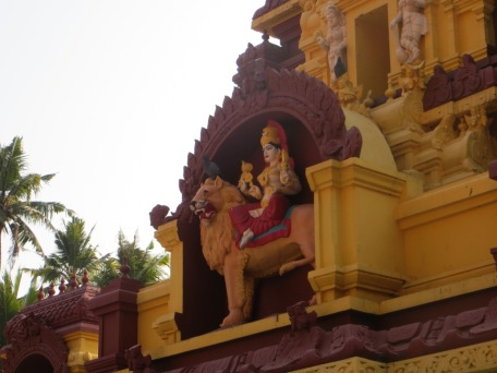A gorgeous Durga temple we came across on the way home