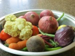 A selection of veggies we ended up using for four different dishes