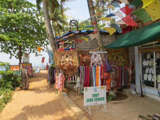Shops on the north cliffs, Varkala